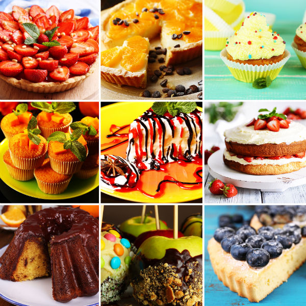 Collage Of Cakes